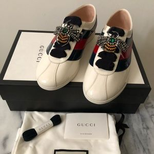 Gucci Vernice Crystal Low Top Sneakers